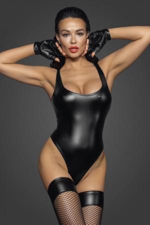 schwarzer Powerwetlook Body F244 von Noir Handmade Fucking Fabulous Collection