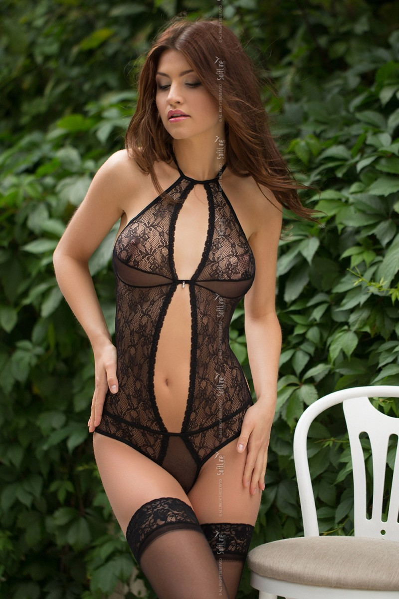 schwarzer Body 1840 von Softline Romantic Collection