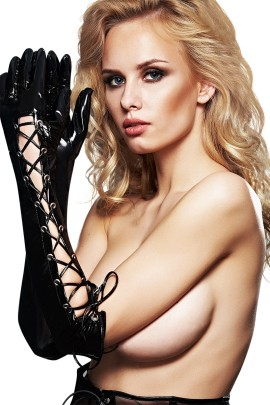 black vinyl gloves A0210 by 7-Heaven