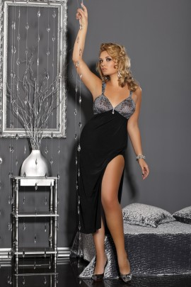black long Dress M/1008 Dea by Andalea Lingerie
