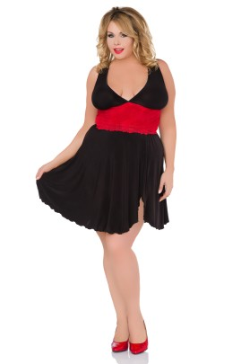 black/red chemise Z/5036 by Andalea