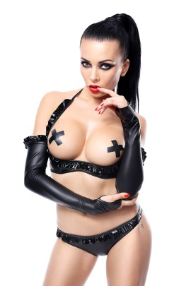 black Gloves Getrude by Demoniq Hard Candy Collection