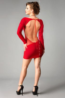 red Chemise Sophia with tong by MeSeduce Lingerie
