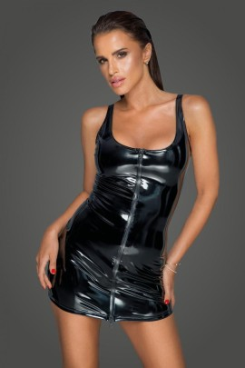 PVC Kleid mit 2-Wege Zipper F232 von Noir Handmade MissBehaved Collection