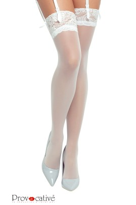 weiße Stockings PR0250 S/L von Provocative